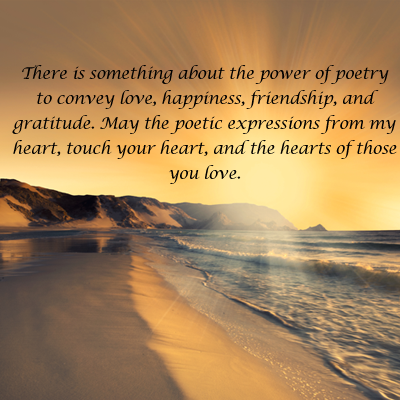poetry conveys love friendship and happiness